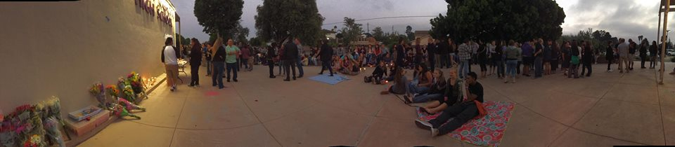 A portion of the vigil's attendees.