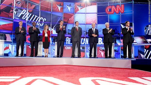 CNN presidential ebate candidates